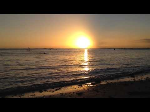 Honolulu Sunset with wave sound