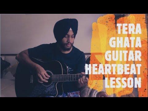 TERA GHATA | Guitar HEARTBEAT Style | Beginners Guitar Lesson