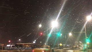 Snowstorm in Salina Kansas on 10-14-2018