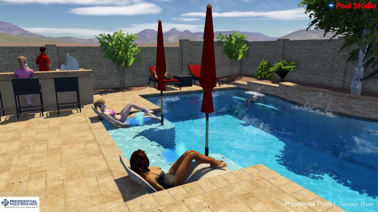 Cyrnek Family Backyard Concept By Presidential Pools Designer Jeremy Hunt