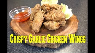 Crispy Garlic Chicken Wings (Filipino)