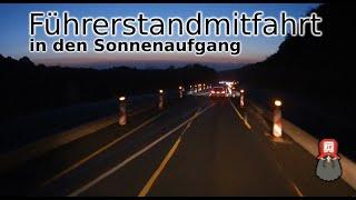 Führerstandmitfahrt in den Sonnenaufgang - Ochtendung - Rastplatz Bernser Kirchwerg
