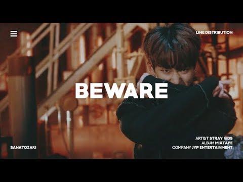 Stray Kids (스트레이 키즈) - Beware (Grrr 총량의 법칙) | Line Distribution