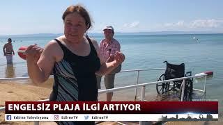 ENGELSİZ PLAJA İLGİ ARTIYOR