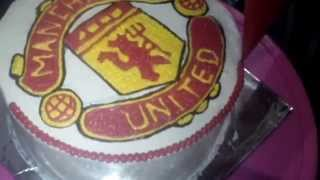 How To Make Manchester United Cake Logo Youtube