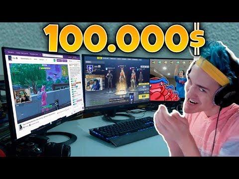 100.000 EURO LA NUOVA POSTAZIONE GAMING DI NINJA DA VITTORIA REALE  !!!!(assurdo)