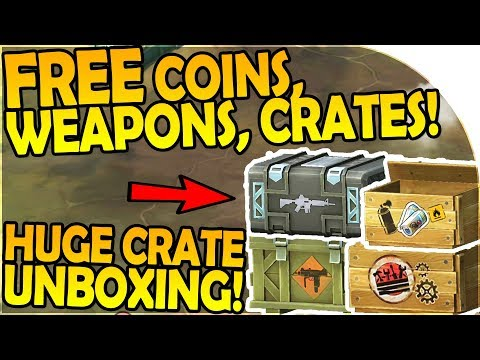 HOW TO GET FREE CRATES, WEAPONS, COINS + HUGE UNBOXING - Las
