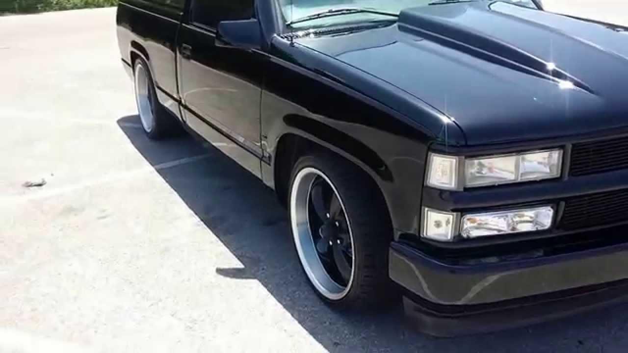 Truck 1998 custom chevy trucks : lowered 98 chevy silverado c1500 walk around - YouTube