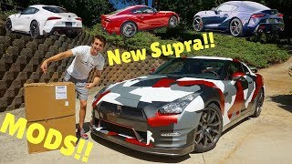 Letting Subscribers Pick My 2020 Toyota Supra Color!! + GT-R MODS!!
