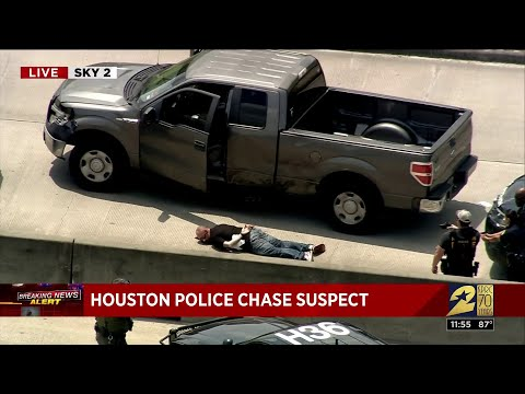 Police Chase Vehicle Through Southeast Houston