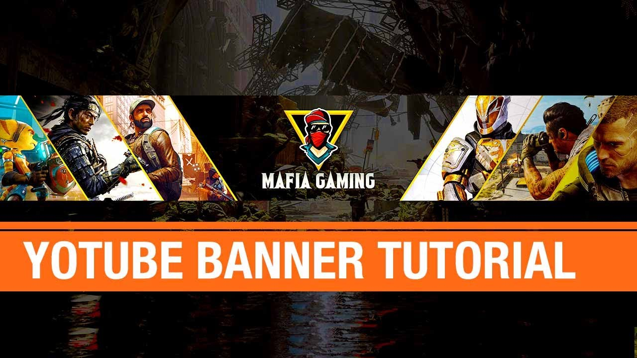 How To Make A Gamer Youtube Banner In Photoshop Youtube