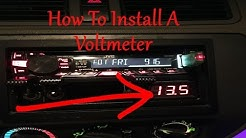 How To Install A Car Audio Voltmeter