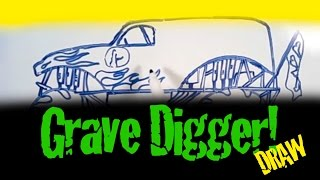 GRAVE DIGGER MONSTER TRUCK DRAW!!!