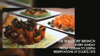 Sunday Brunch at the Waldorf Astoria New York