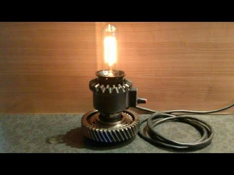 Assembling Steampunk Gear Lamp #5 - DIY