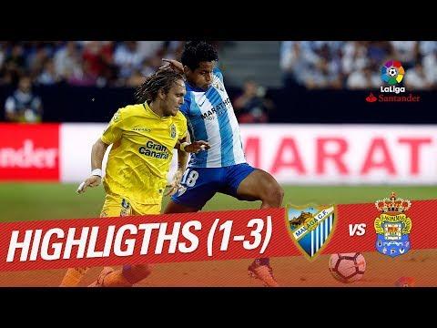 Resumen de Málaga CF vs UD Las Palmas (1-3)