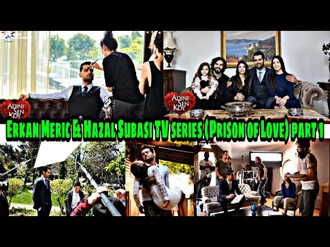 Erkan Meriç and Hazal Subasi Photos from the plan of the TV series (Prisoner of Love).part 1