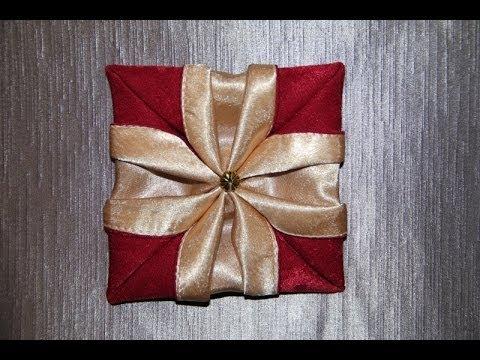 """Оригами цветок из ткани """""""