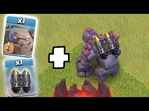 GOLEM + ROCKET COMBO!!!🔸JUMP SPELL CHALLENGE🔸Clash Of Clans
