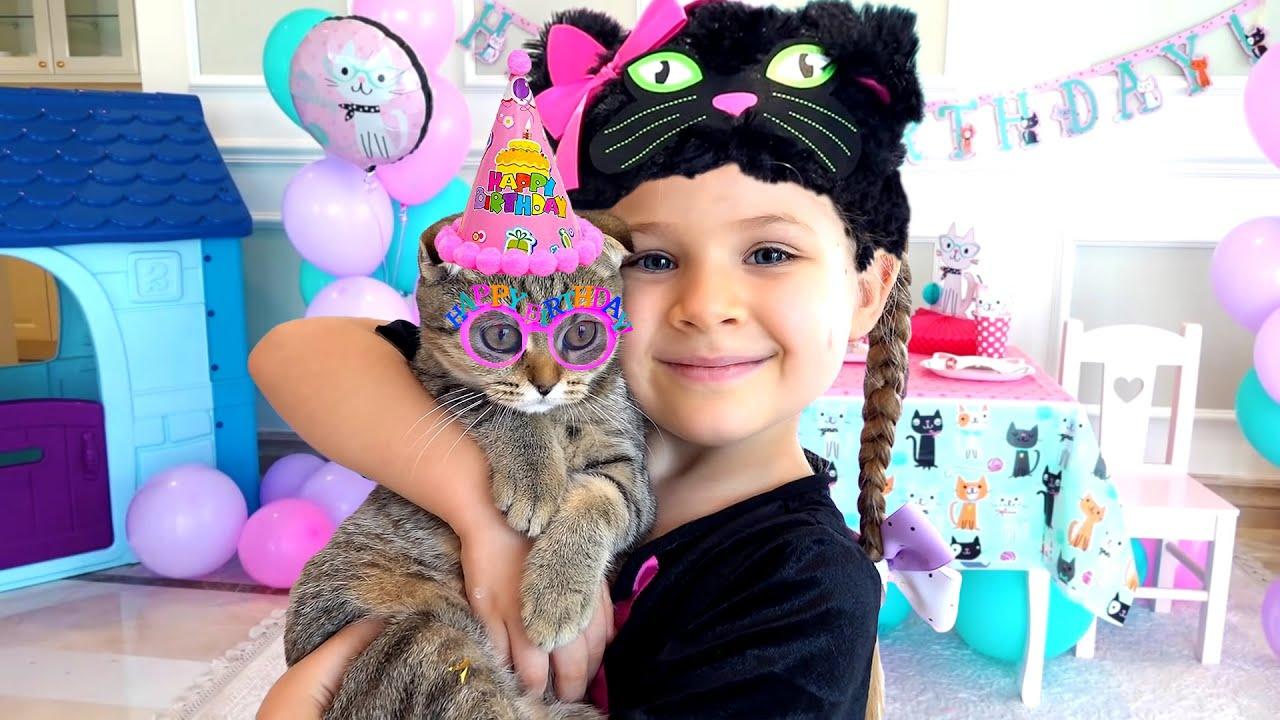 ديانا وعيد ميلاد القطة