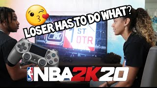 1V1 AGAINST DDG IN NBA2K20-Whoever wins gets a kiss!