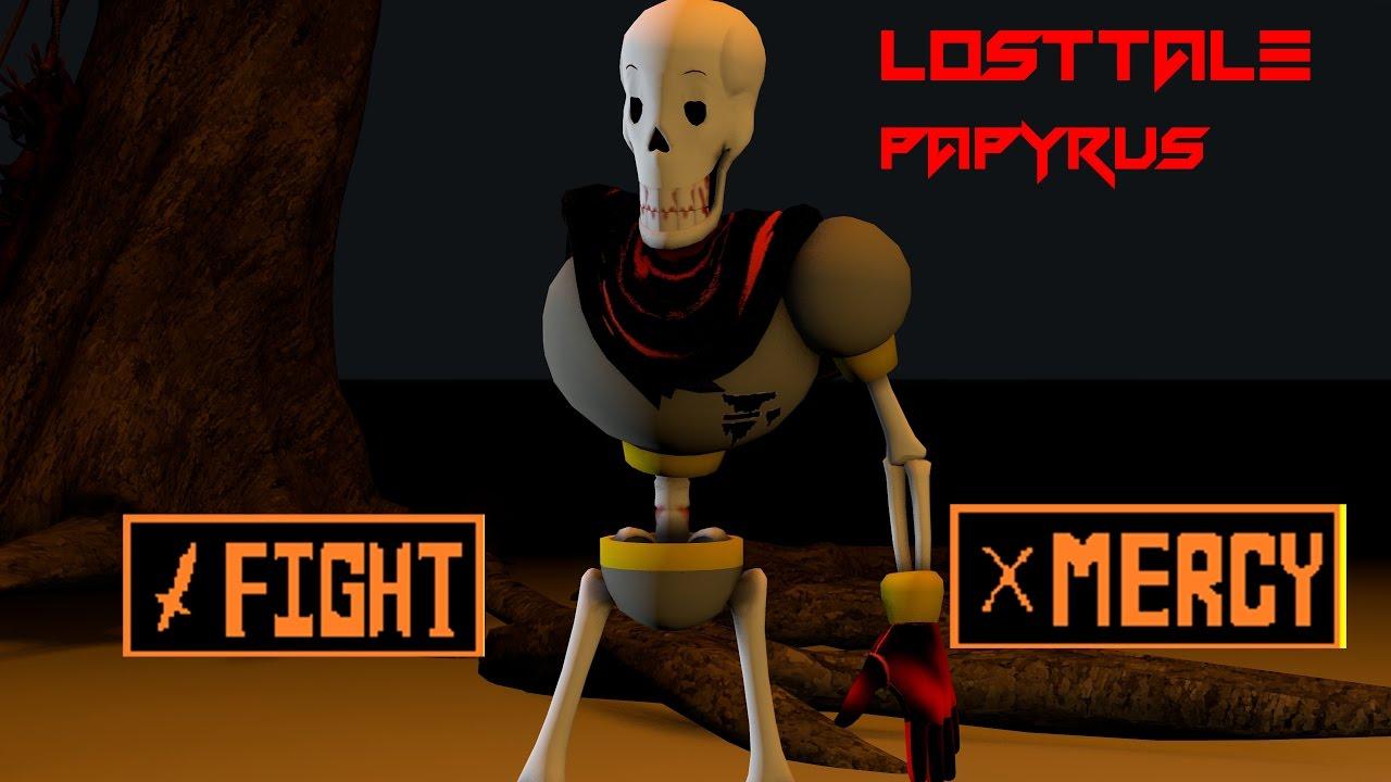 Download [SFM UNDERTALE] Losttale Papyrus [test]