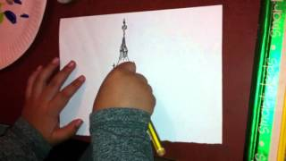 How to draw Big Ben by Zayn aged 4. 3/3/16