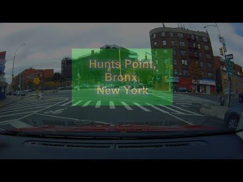 Drive through Hunts Point Market- Bronx, New York