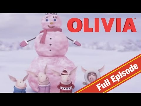 Olivia the Pig | Olivia Builds a Snowlady | Olivia Full Episodes