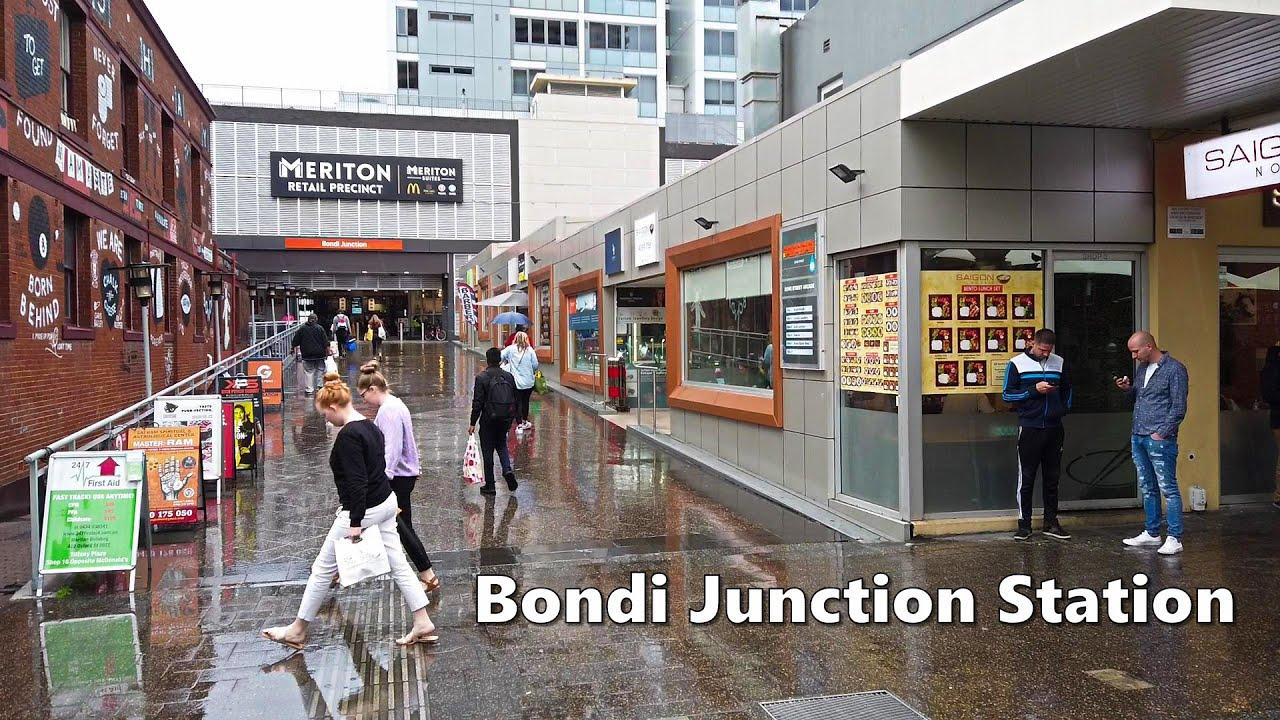 Walking To BONDI JUNCTION Station   Sydney Trains