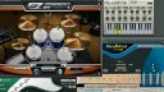 FL Studio 7 XXL and plug-ins:  EZdrummer, Drum and Bass Rig, RealStrat