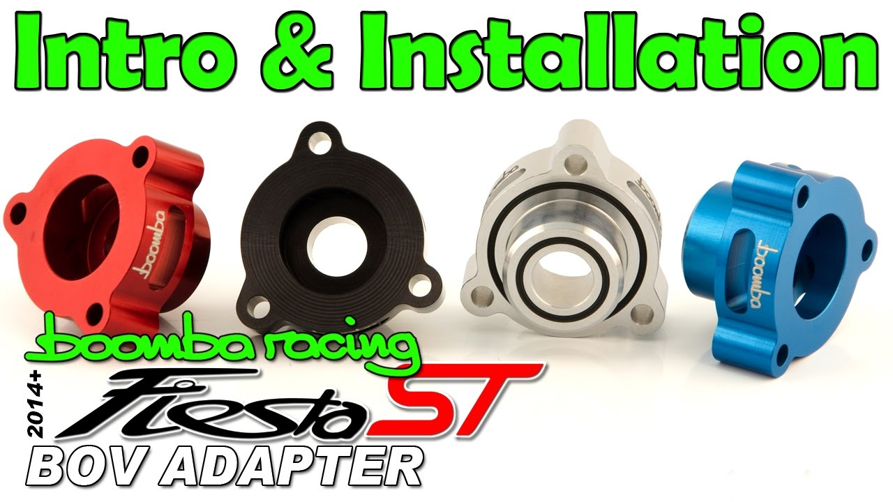 Ford Fiesta ST Boomba Racing BOV Blow Off Valve ADAPTOR RED for 2014