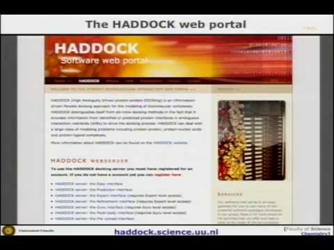 WeNMR lecture on information-driven docking with HADDOCK by Prof. Alexandre Bonvin