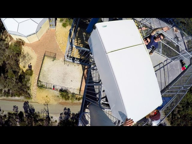 WE DROPPED A FRIDGE OFF A 45m TOWER!!