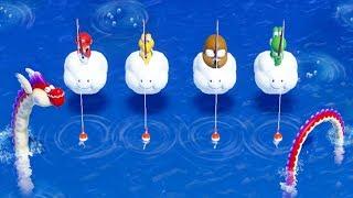 Super Mario Party - All Brain Puzzle Mini games - Mario Vs Yoshi Vs Koopa Troopa Vs Monty Mole