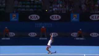 Repeat youtube video Li Na's Serve Shocker | Australian Open 2013