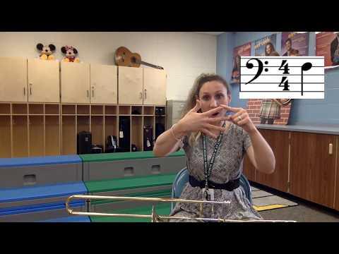 Trombone - Playing Note F