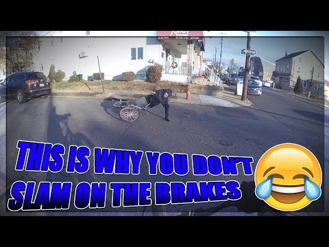 THIS IS WHY YOU DON'T SLAM ON THE BRAKES