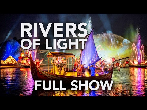 "NEW Full ""Rivers of Light"" lagoon show at Animal Kingdom, Walt Disney World - Soft Opening"