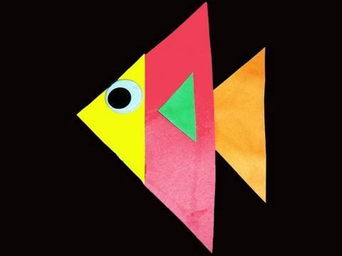 Manualidades De Kindergarten Que Podemos Hacer Con Triangulos Pezcado Manualidadesconninos Youtube