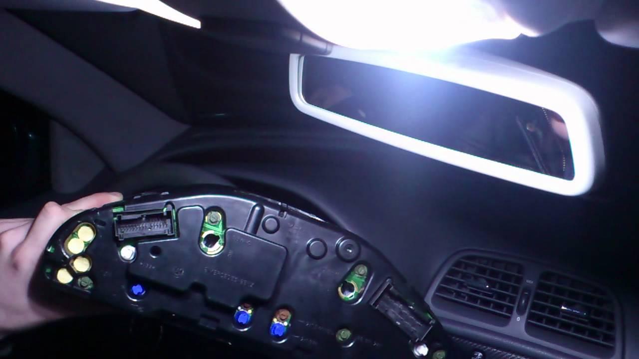 Ausbau Tacho Kombiinstrument CLK 200 w208 LED tuning - YouTube
