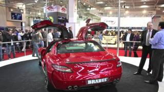 Red Mercedes SLS AMG by BRABUS (1080p)