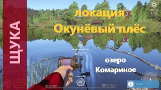 Русская рыбалка 4 озеро Комариное Щука на лягушку