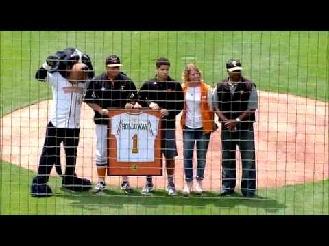 UT Baseball - Condredge Holloway Jersey Retirement (April 25, 2015)