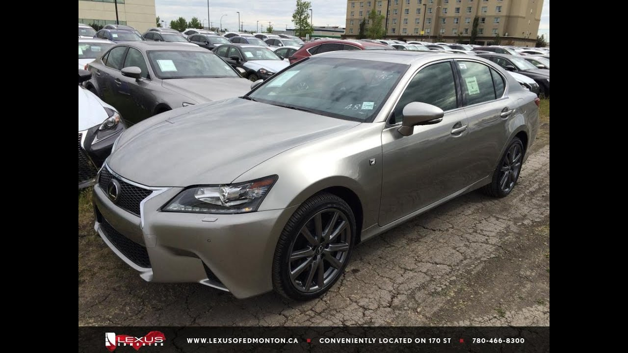 new atomic silver 2015 lexus gs 350 awd f sport series review south edmonton youtube. Black Bedroom Furniture Sets. Home Design Ideas
