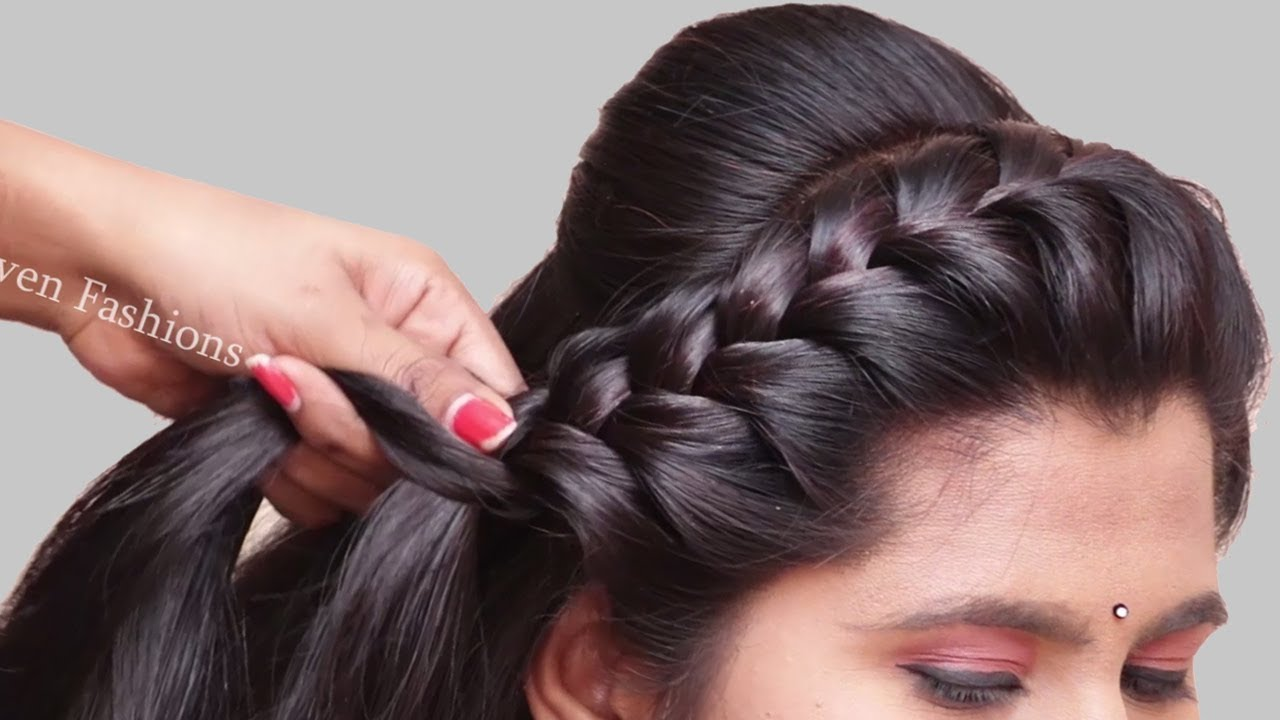 3 Easy Hairstyles For Party College Work Hair Style Girl