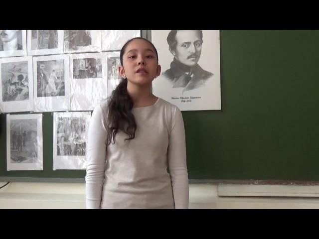 Изображение предпросмотра прочтения – КаролинаБазарбаева читает отрывок изпроизведения «Мцыри» М.Ю.Лермонтова