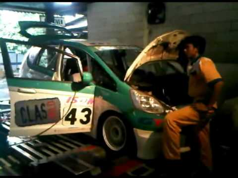 Honda Jakarta Center - Dyno tuning Unichip Q Piggyback on Honda New Jazz i-VTEC 1.5L Race Car.