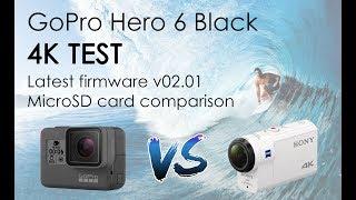 GoPro 6 или Sony X3000. Тестирование 4K. Новая прошивка 02.01. Карта SanDisk Extreme