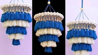 WOW !!! Amazing Woolen Wall Hanging    DIY ROOM DECOR    Handmade Wall Hanging